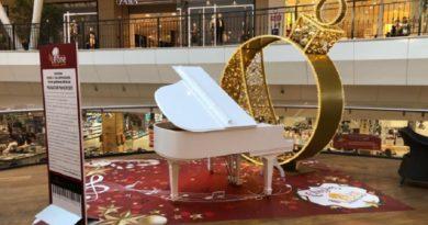 A Natale il Leone suona il pianoforte